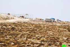 Settlers establish a new outpost on citizens' lands, east of Yatta, Hebron Governorate.