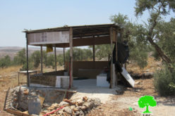 Notice of demolition for three agricultural facilities in Rantis village / Ramallah governorate