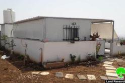 Halt of work notice for an Agricultural room in Az-Zawiya / West Salfit