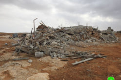 Demolition of a house in Ghaziwi, south of Yatta, Hebron Governorate