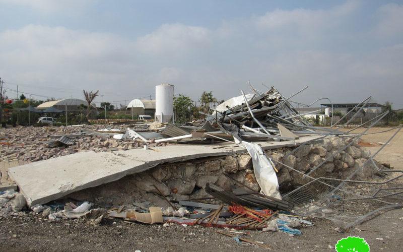 هدم منشآت زراعية وتجارية في محافظة قلقيلية