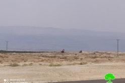 Israeli bulldozers ravage vast areas in Deir Abu Hajla / Jericho