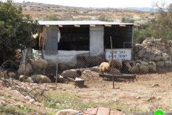 إخطار بإزالة منشأة زراعية في السيميا غرب السموع بمحافظة الخليل