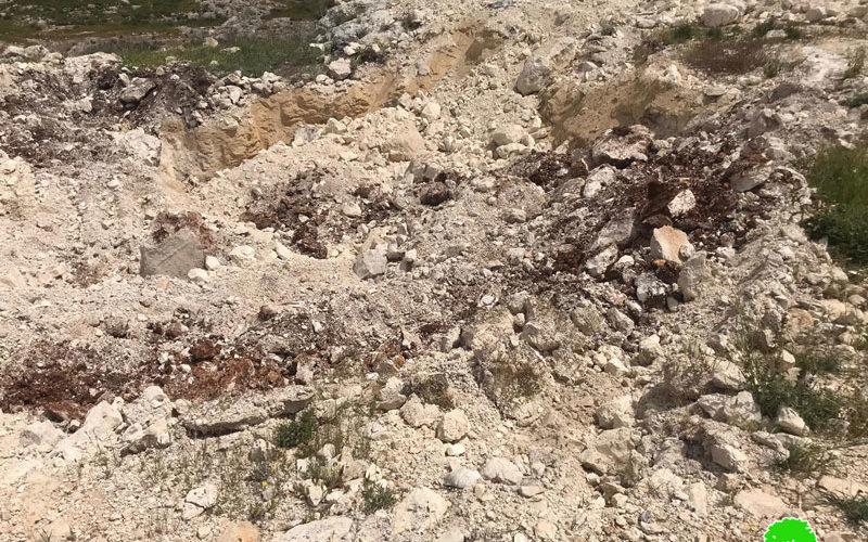Demolishing cisterns and uprooting 1150 saplings in Kafr Ne'ama village / Ramallah governorate