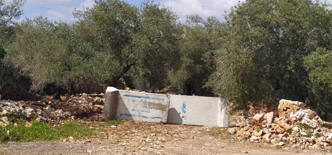 Closure of five agricultural roads in Deir Istiya / Salfit governorate