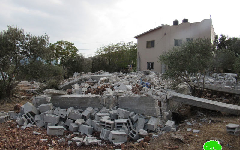Demolition of an under construction house in Al-Taybeh village, west Jenin