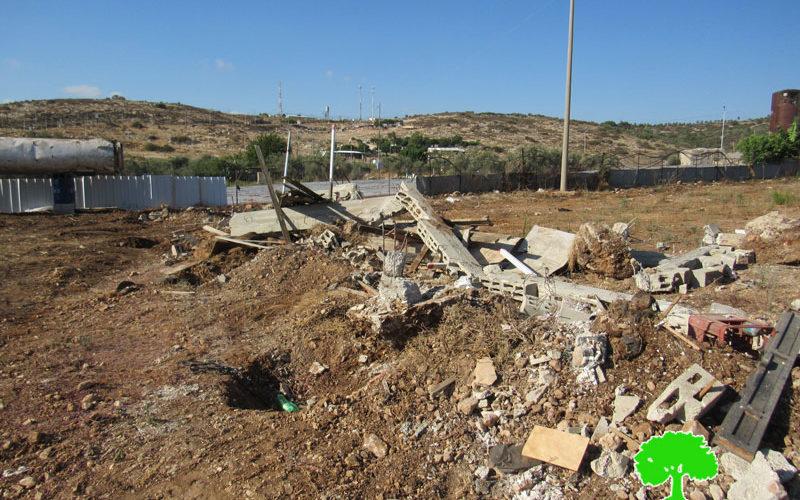 Demolition of retaining walls east Qalqilya