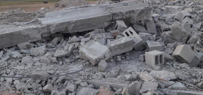 Demolishing a Bakery Shop east Araba/ Jenin Governorate