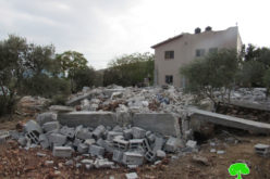 Demolition of an under construction house in Al-Taybeh village, west Jenin