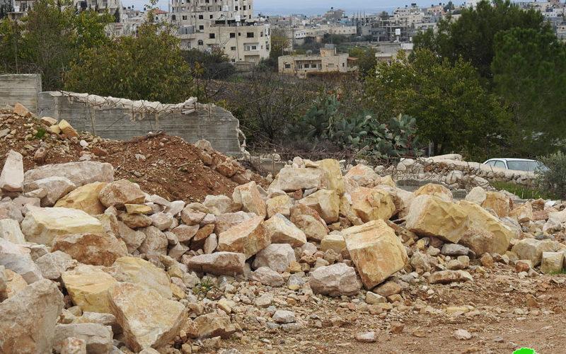 جرافات الاحتلال تهدم منزلاً في بلدة الخضر / محافظة بيت لحم