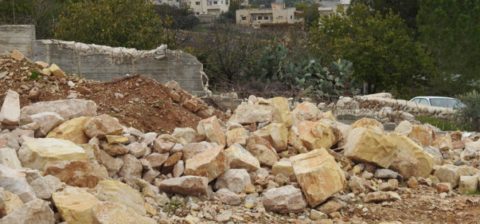 The Israeli Occupation Bulldozers Demolished a house in Al-Khader