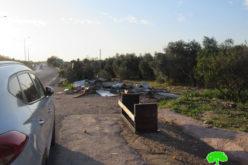 هدم بسطة لبيع الخضار في قرية النبي إلياس بمحافظة قلقيلية