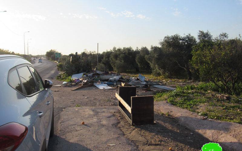 Demolishing a Market Stall in An-Nabi Elyas / Qalqliya governorate