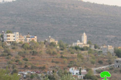 Stop work notice of a water network in Marda village, Salfit Governorate