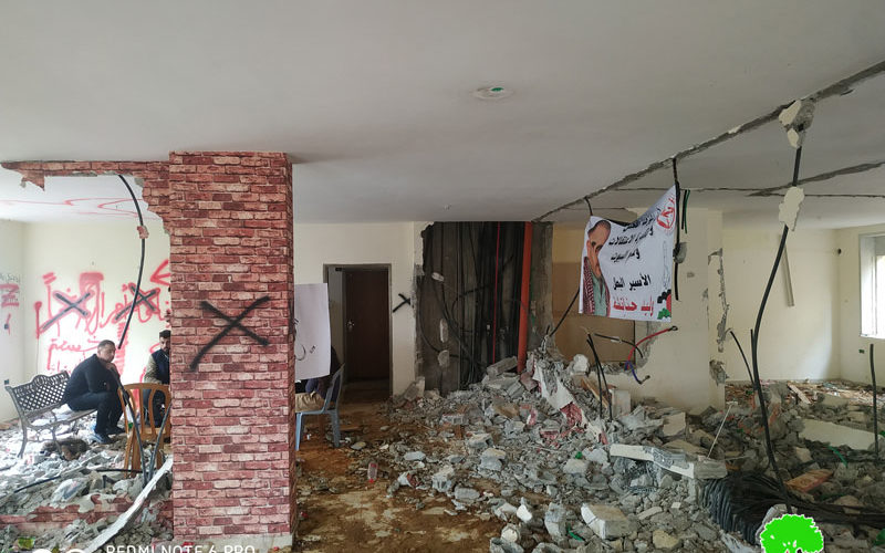 Under Security Claims, the Occupation Demolishes Two Houses in Beir Zait and At-Tira Neighborhood / Ramallah governorate