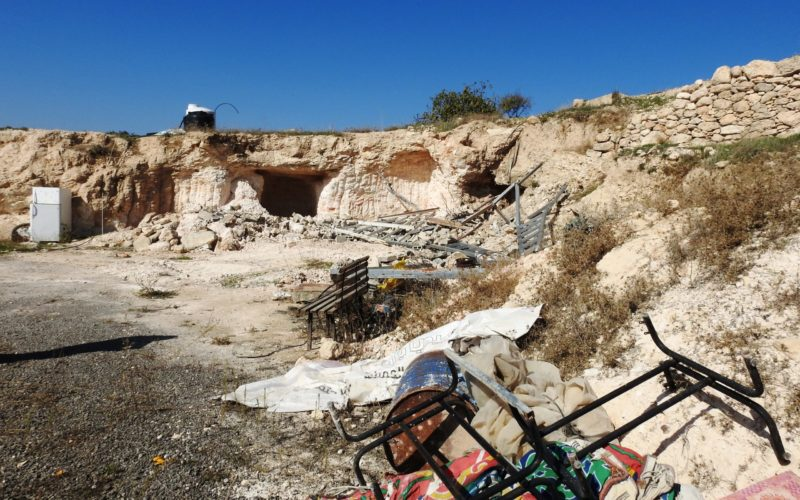 Demolishing an agricultural facility east Yatta/ Hebron Governorate