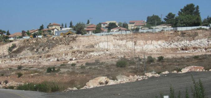 "The Israeli Occupation Open a New Colonial Road South ""Kiryat Netafim"" / Salfit governorate"