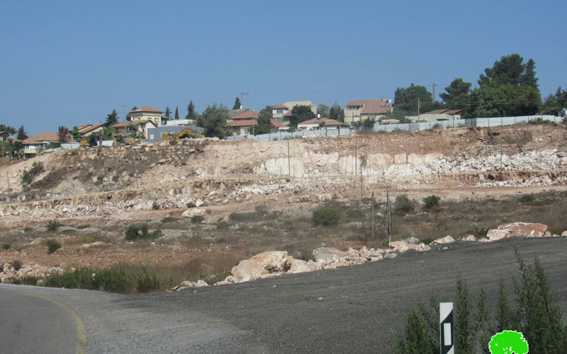 "The Israeli Occupation Open a New Colonial Road South ""Kiryat Netafim"" / Salfit governorate"