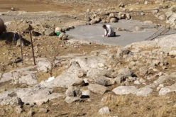 The Occupation demolishes a Water Harvesting Cistern in Khirbet Jib'it / Ramallah governorate