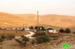 الاحتلال الإسرائيلي يشرع بحفر بئر ارتوازي شرق خربة طانا / محافظة نابلس