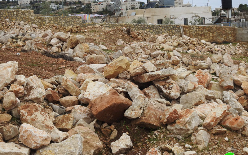 Ravaging a plot in Bettir town / Bethlehem governorate