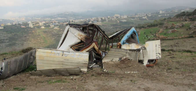 Colonists Demolished an Agricultural Room in Jit Village \ Qalqilya governorate