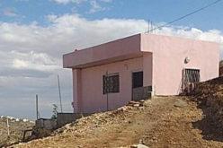 إخطار مسكن عائلة سند بوقف العمل والبناء في بلدة جناتا / محافظة بيت لحم