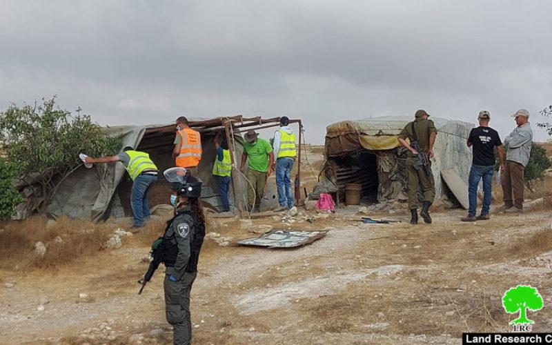 هدم ومصادرة منشآت زراعية في مسافر يطا جنوب الخليل