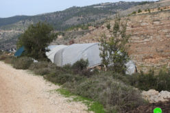 Colonists set up a Shack in Marah Salah area / Battir- Bethlehem governorate