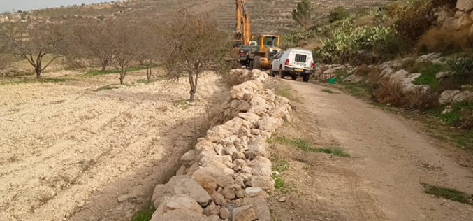 The Israeli Occupation Demolishes an Agricultural Project in Suba / West Hebron