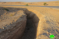 Colonists Dig a Massive Trench in An-Nuwayima / Jericho governorate