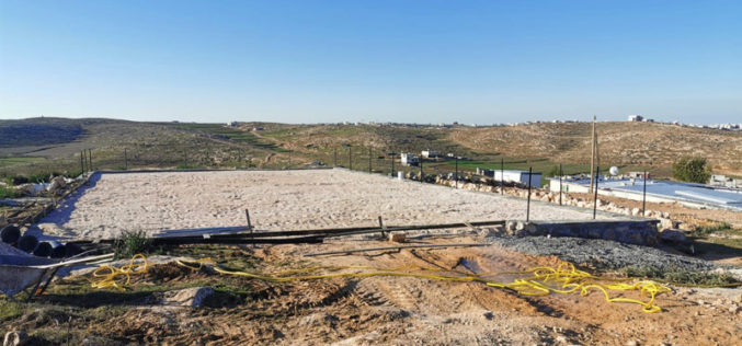 Halt of Work Notice for Sosiya playground South Hebron