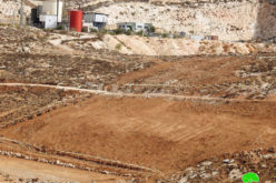 Settlers bulldoze and fence lands in the village of Zanuta, south of Hebron