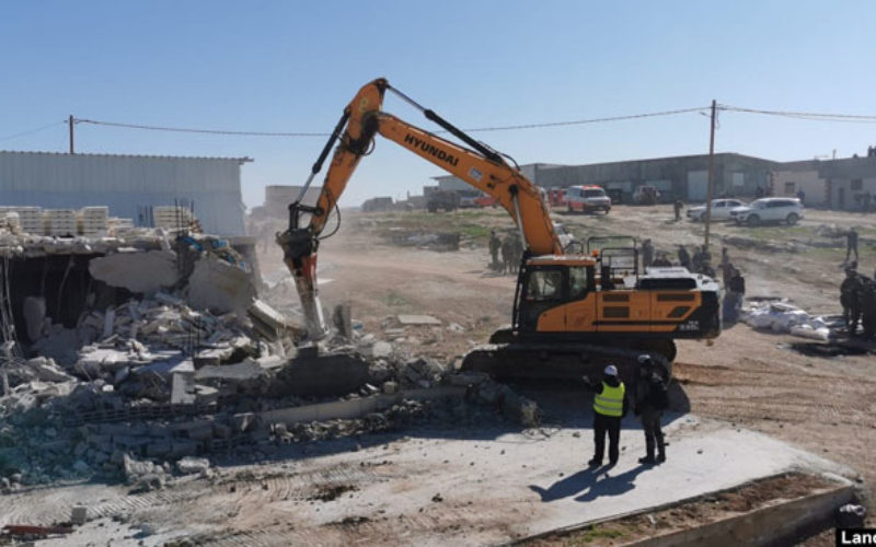 The Occupation Demolishes Residences and Agricultural Facilities around Yatta town / South Hebron
