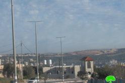 """تجريف مساحات شاسعة من الأراضي في """" واد عبد الرحمن"""" شرق سلفيت"""