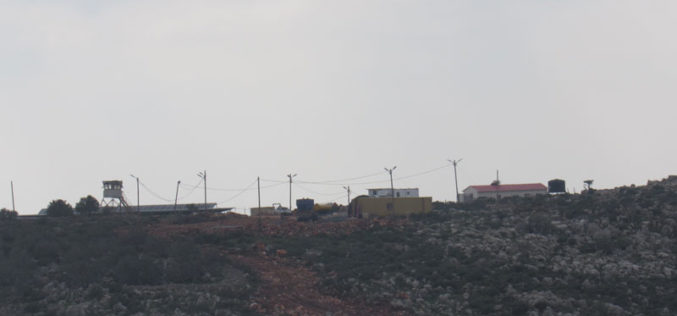 New Colonial Units and a Watch Tower to be established in Salfit city