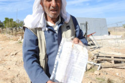 Notices to stop work and construction in sheep dwellings  and cistern in the village of Al-Buwaib, east of Yatta, Hebron Governorate