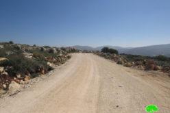 اخطارات بوقف العمل في منازل ومنشآت المواطنين بقرية ياسوف بمحافظة سلفيت