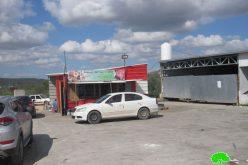 اخطارات بهدم و ازالة منشآت زراعية و تجارية جنوب مدينة جنين