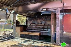 The Occupation Forces set Fire to a Grocery Shop on Ni'lin / Ramallah Governorate