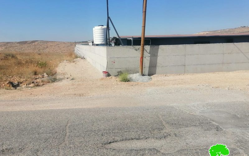 The Occupation Halts Work for an Agricultural Facility in Jubara village / Tulkarm governorate
