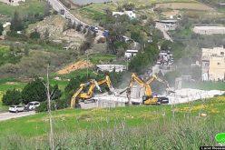 الاحتلال يهدم منزلين في قرية عين شبلي بمحافظة نابلس