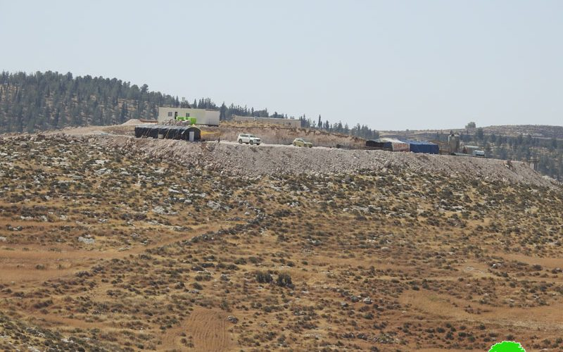 Israeli Illegal Colonists Build a New Outpost on Zanuta village lands / South Hebron