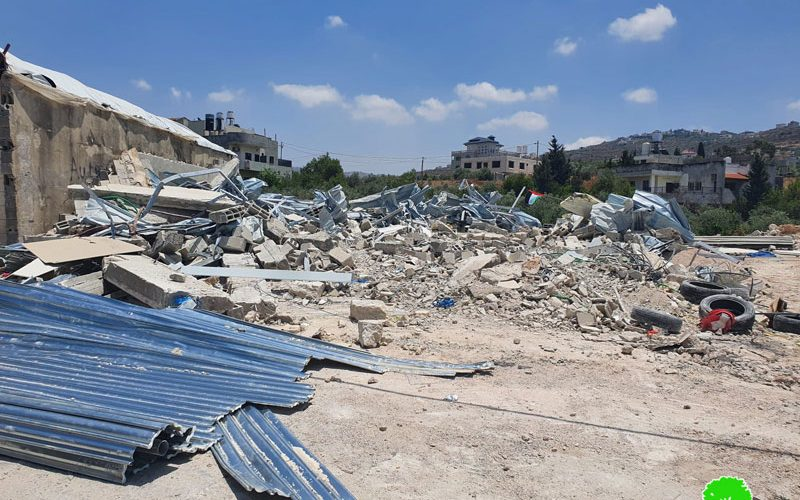 Three facilities Demolished in Deir Sharaf village/ Nablus Governorate