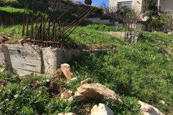 The Occupation Notifies a Structure for Suliman family in Tuqu' town / Hebron governorate