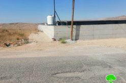 الاحتلال يخطر بوقف العمل والبناء في منشأة زراعية في قرية جبارة بمحافظة طولكرم