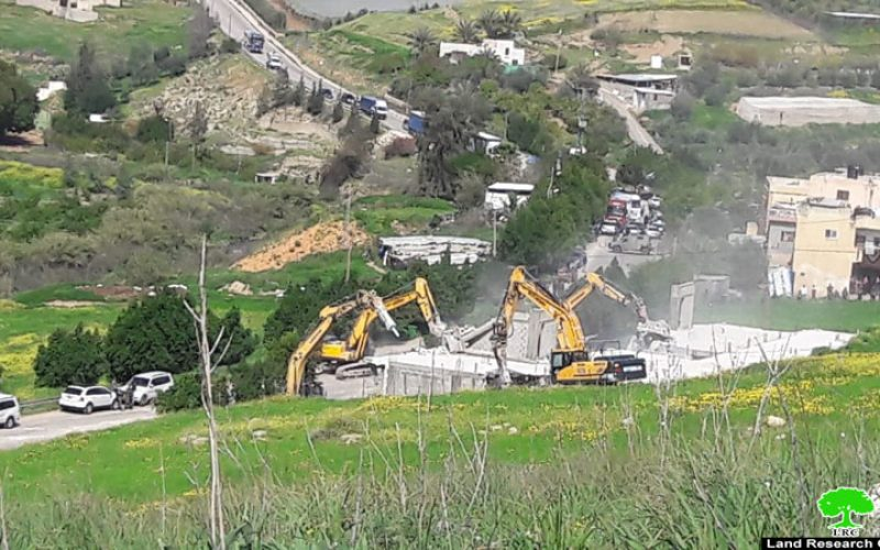 Two houses demolished in 'Ein Shibli / Nablus Governorate