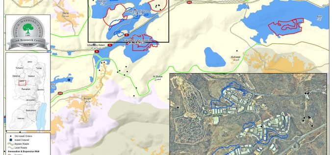 """المصادقة على مخطط تفصيلي لتوسعة مستعمرة """" بركان الصناعية"""" على حساب أراضي قرية حارس / محافظة سلفيت"""