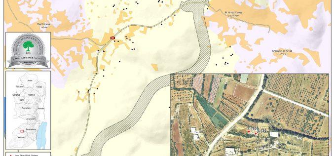إخطارات بوقف العمل في 4 آبار زراعية في بلدة بيت أمر شمال الخليل