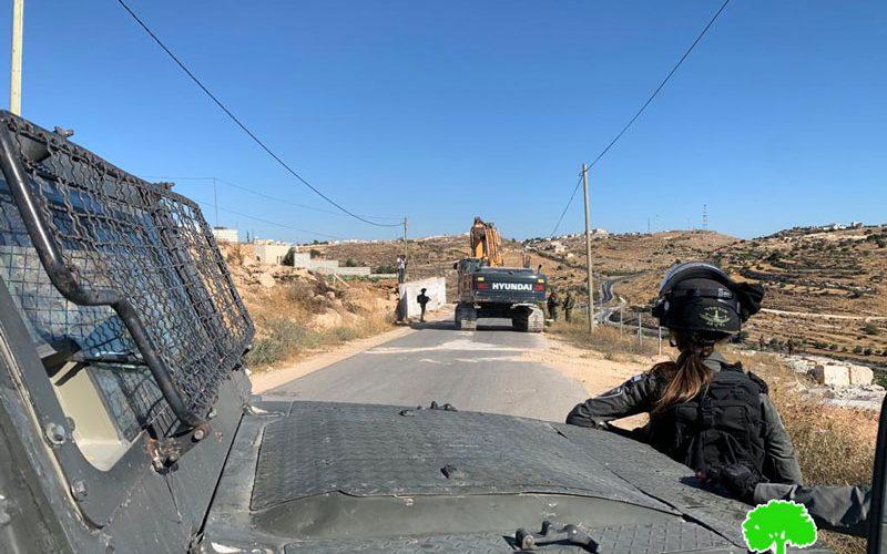 الاحتلال يهدم منشآت زراعية في واد الجوز غرب بلدة بني نعيم / محافظة الخليل